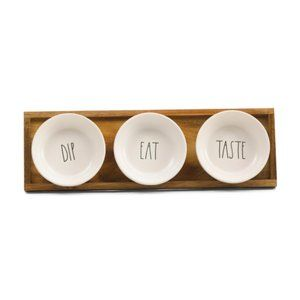 RAE DUNN Dip Taste Eat Serving Dishes